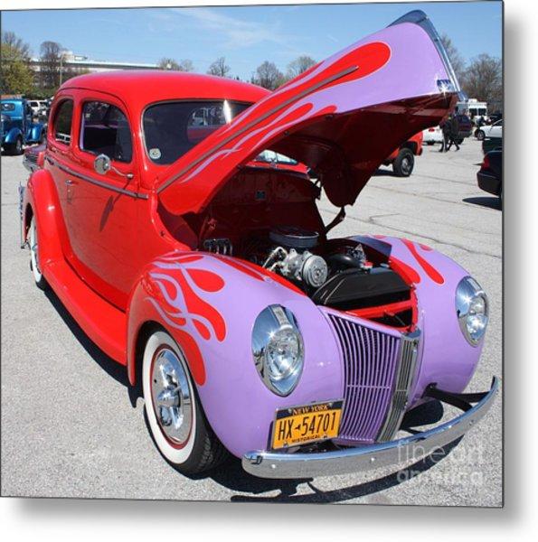 1940 Ford Two Door Sedan Hot Rod Metal Print