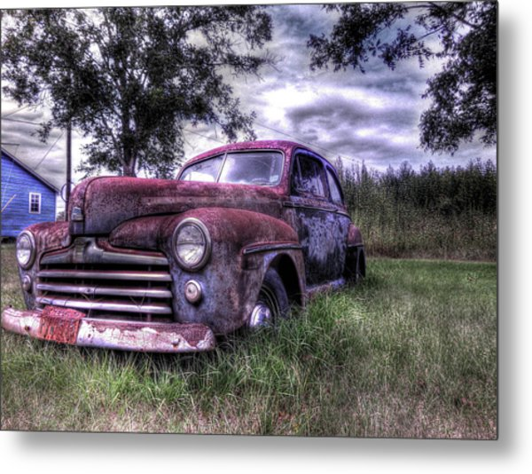 1940s Ford Super Deluxe 8 Metal Print