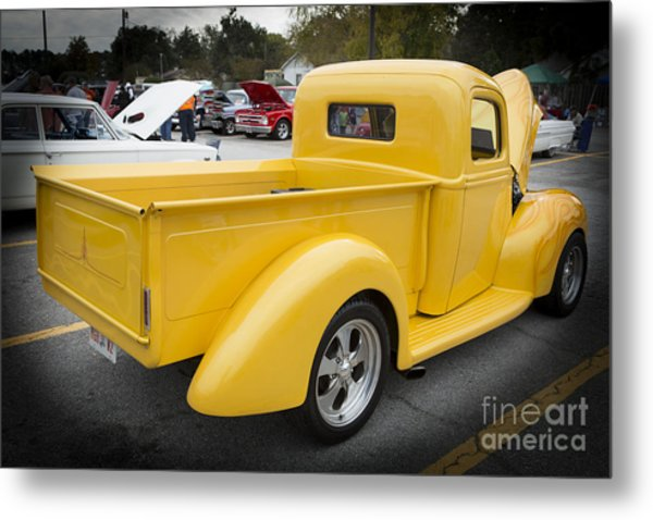 1941 Ford Pickup Truck Side View Classic Automobile In Color 30 Metal Print By M K Miller