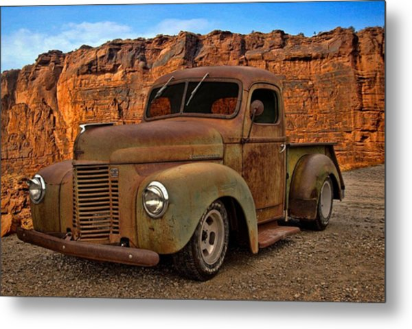 Metal Print featuring the photograph 1941 International Pickup by Tim McCullough