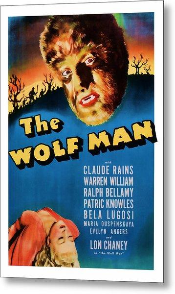 1941 The Wolf Man Vintage Movie Art Metal Print