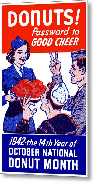 1942 Donut Month Poster Metal Print
