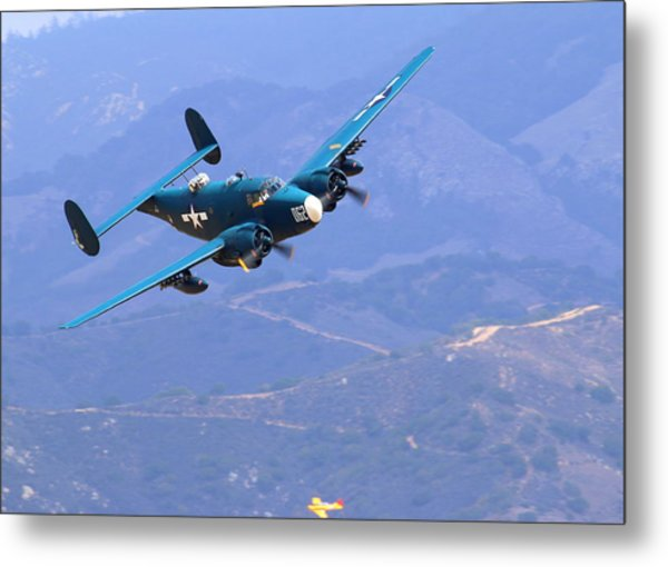 1944 Lockheed Pv-2 Harpoon Pays A Visit At The Salinas Air Show Metal Print by John King