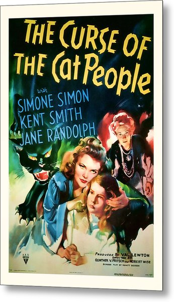 1944 The Curse Of The Cat People Vitage Movie Art Metal Print