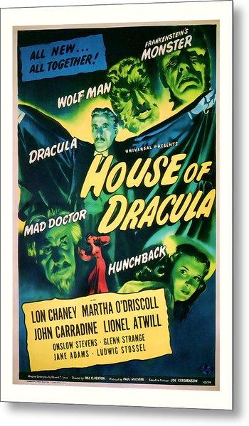 1945 House Of Dracula Vintage Movie Art Metal Print