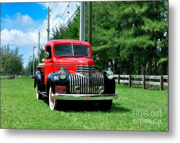 1946 Chevy Short Bed Metal Print by Andres LaBrada