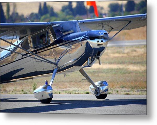 1947 Cessna 140 A Little Closer N4151n Metal Print