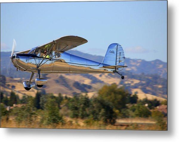 1947 Cessna 140 Climbing Out N4151n Metal Print