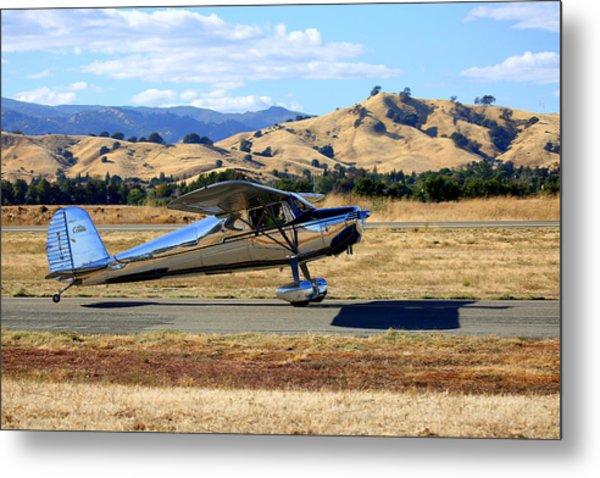 1947 Cessna 140 Taxiing N4151n Metal Print
