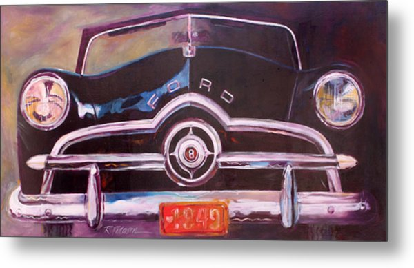 1949 Ford Metal Print by Ron Patterson
