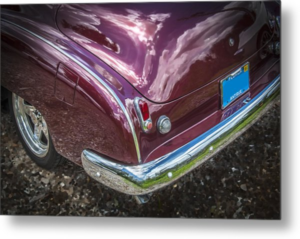 1950 Chevrolet Tailights And Bumper Metal Print