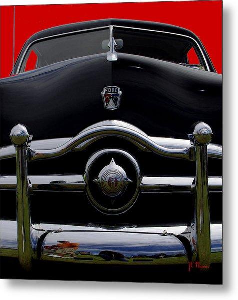 1950 Ford Automobile Metal Print