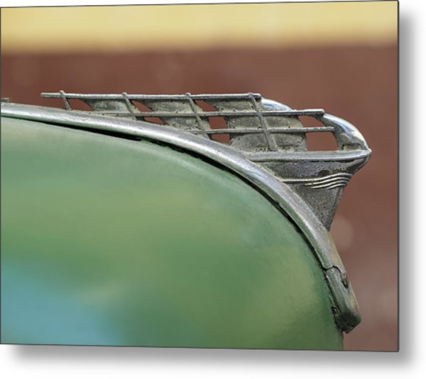 1950 Plymouth Hood Ornament - Image Art By Jo Ann Tomaselli Metal Print