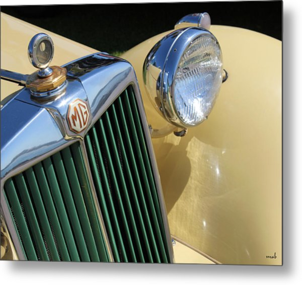1950 Yellow Mg Grille Metal Print by Mark Steven Burhart