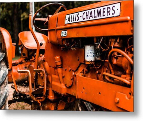 1950s-vintage Allis-chalmers D14 Tractor Metal Print