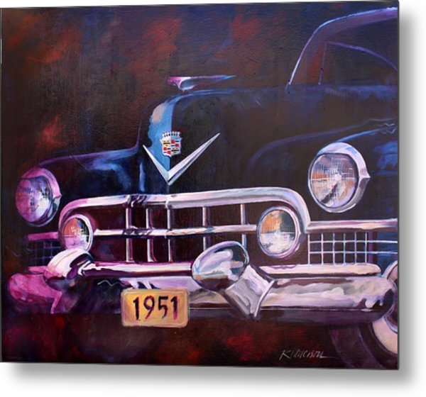 1951 Cadillac Metal Print by Ron Patterson