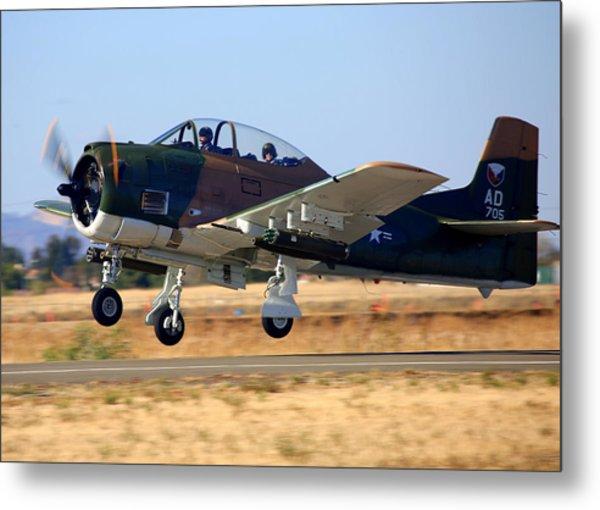 1951 T-28a Trojan Take-off N51705 Metal Print