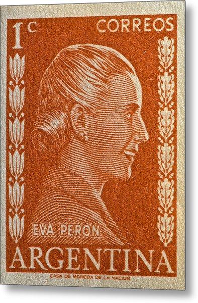 1952 Eva Peron Argentina Stamp Metal Print