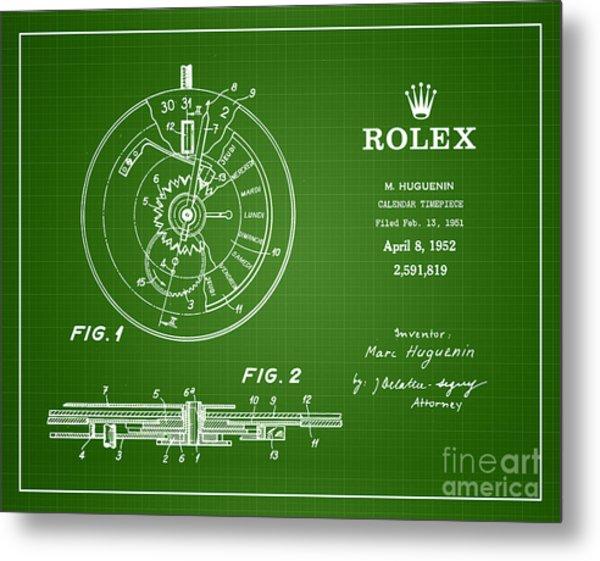 1952 Rolex Calendar Timepiece 2 Metal Print by Nishanth Gopinathan