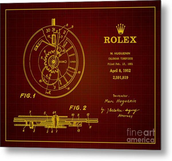 1952 Rolex Calendar Timepiece 3 Metal Print by Nishanth Gopinathan