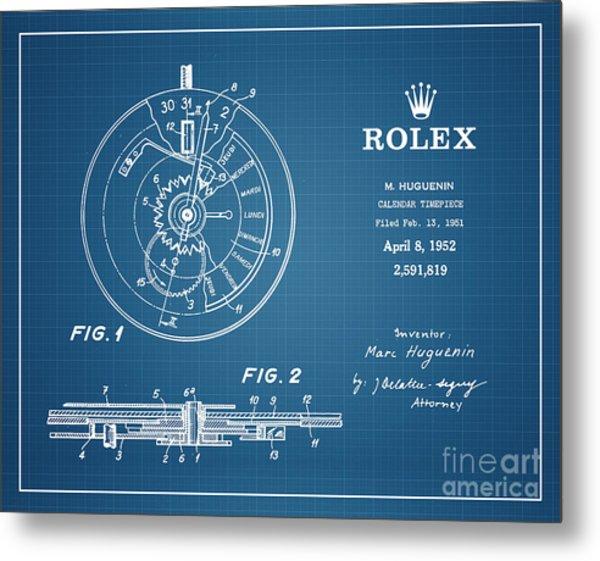 1952 Rolex Calendar Timepiece 4 Metal Print by Nishanth Gopinathan