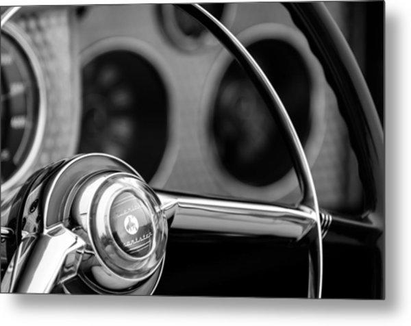1952 Sterling Gladwin Maverick Sportster Steering Wheel Emblem -1848bw Metal Print