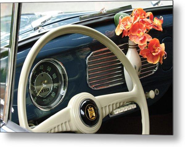 1952 Volkswagen Vw Bug Steering Wheel Metal Print