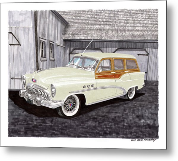1953 Buick Estate Wagon Woody Metal Print