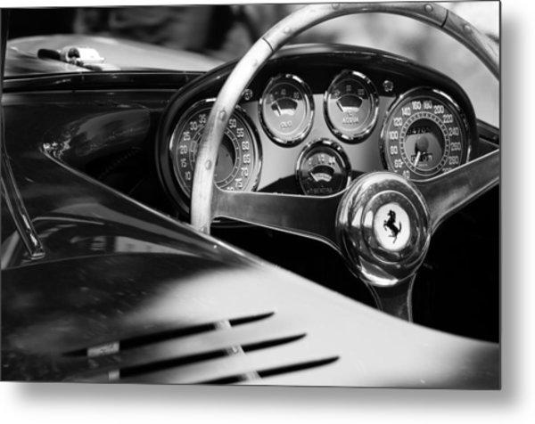 1954 Ferrari 500 Mondial Spyder Steering Wheel Emblem Metal Print