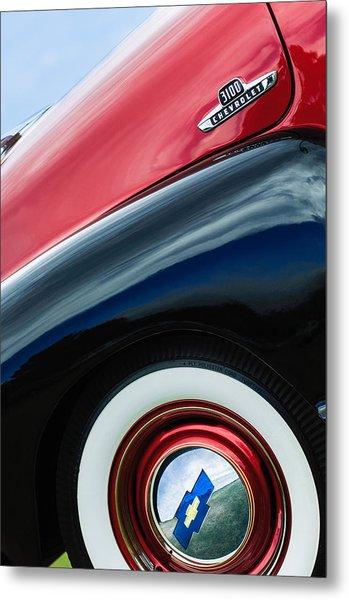 1955 Chevrolet 3100 Pickup Truck Emblem Metal Print