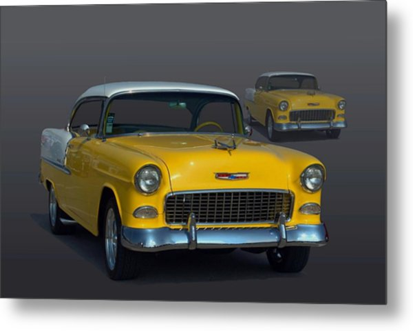 1955 Chevrolet Bel Air Hot Rod Metal Print