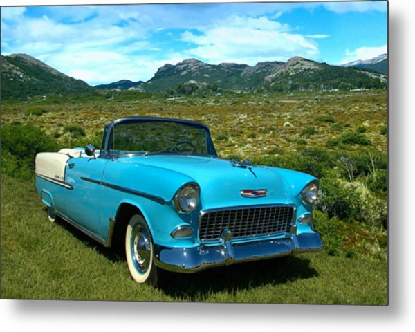 1955 Chevrolet Convertible Metal Print