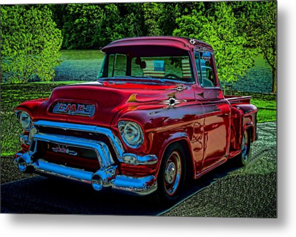 Metal Print featuring the photograph 1955 Gmc 100 Pickup Truck by Tim McCullough
