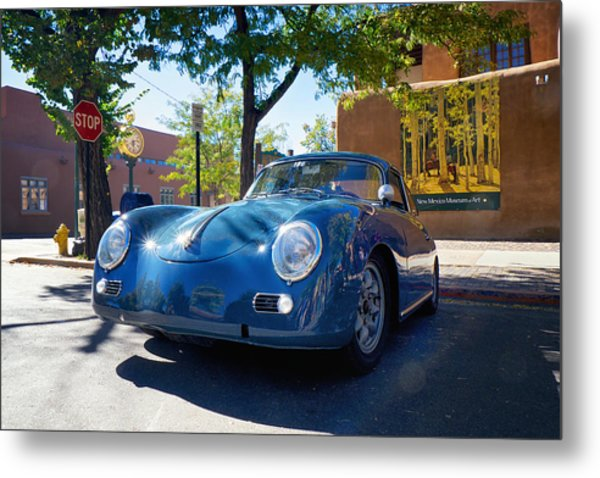 Metal Print featuring the photograph 1956 356 A Sunroof Coupe Porsche by Mary Lee Dereske