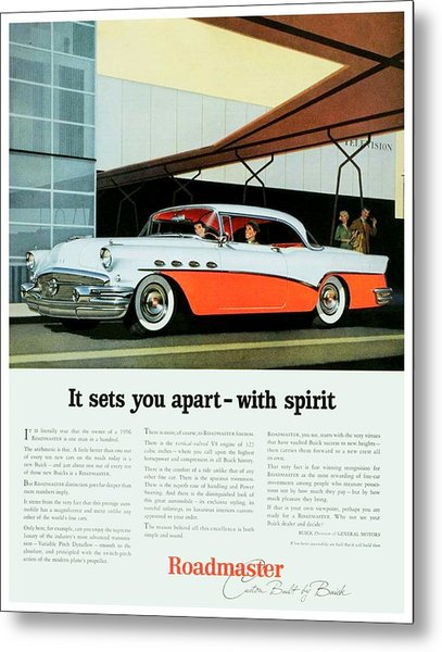 1956 - Buick Roadmaster Convertible - Advertisement - Color Metal Print