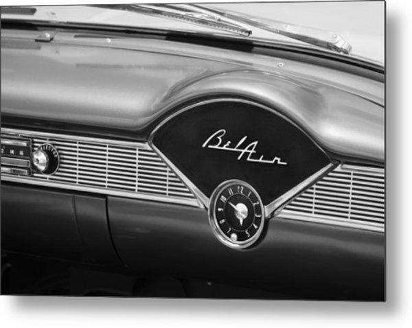 1956 Chevrolet Bel Air Convertible Painted Bw Metal Print