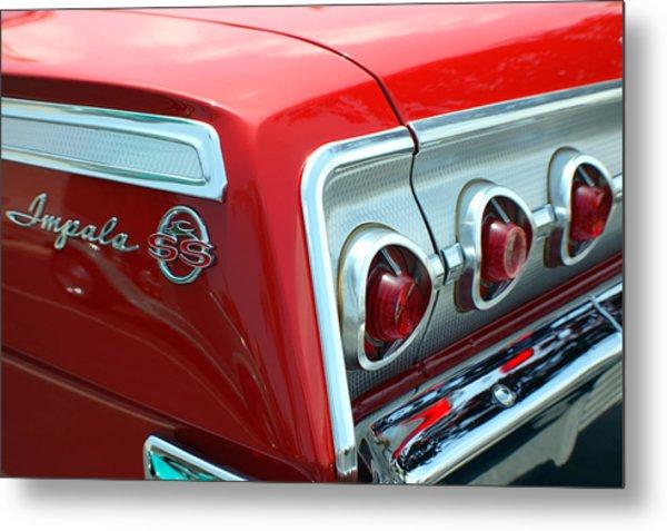 1956 Chevrolet Impala Ss Taillights 2 Metal Print by DJ Monteleone