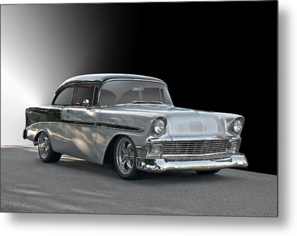 1956 Chevrolet 'post' Coupe Metal Print by Dave Koontz