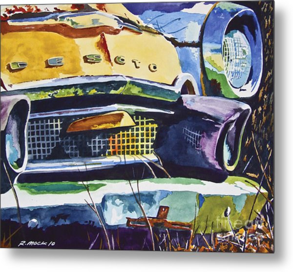 1956 Desoto Abstract Metal Print by Rick Mock