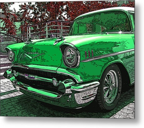 1957 Chevrolet Bel Air Metal Print