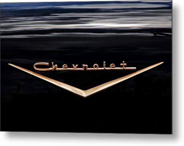 1957 Chevrolet Emblem Metal Print