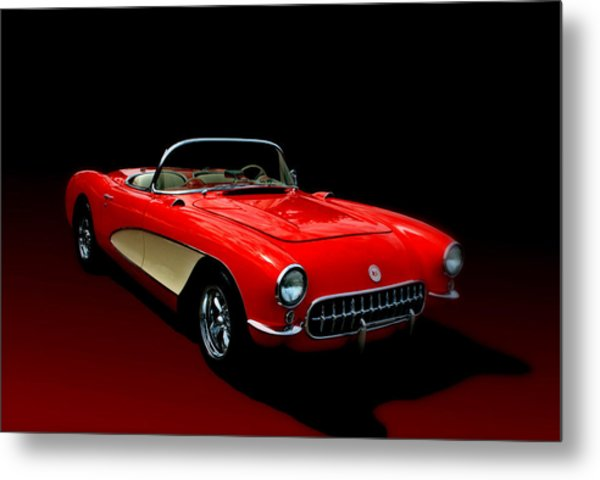 Metal Print featuring the photograph 1957 Corvette by Tim McCullough