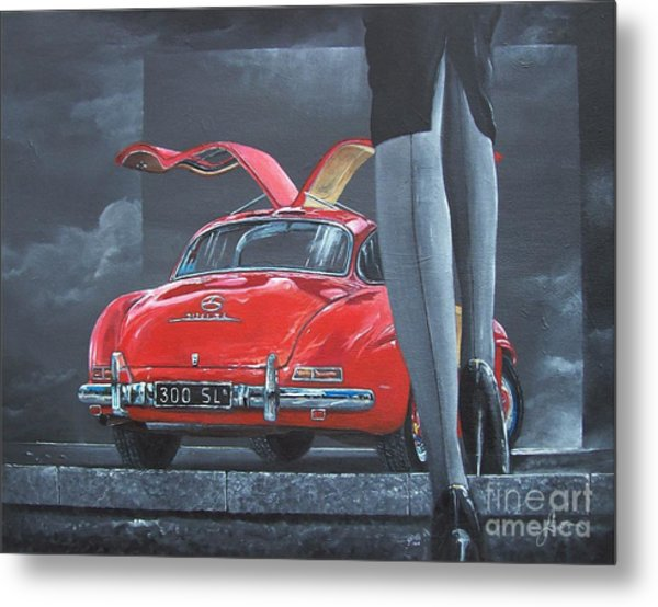 1957 Mercedes Benz 300 Sl Gullwing Coupe Metal Print
