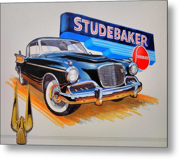 1957 Studebaker Golden Hawk Metal Print