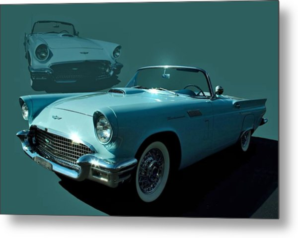 Metal Print featuring the photograph 1957 Thunderbird Convertible by Tim McCullough