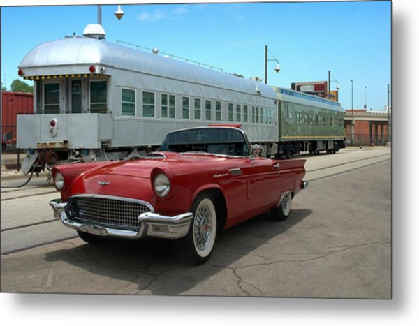 Metal Print featuring the photograph 1957 Thunderbird by Tim McCullough