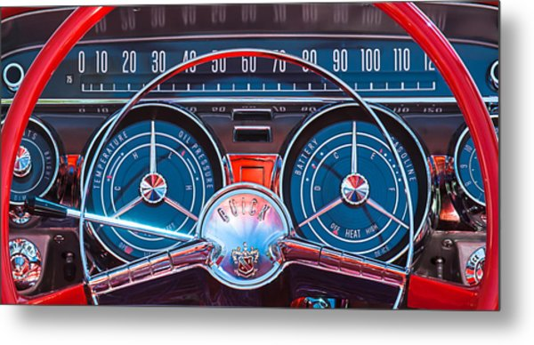 1959 Buick Lesabre Steering Wheel Metal Print