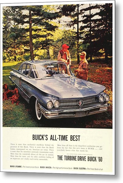 1960 - Buick Lesabre Sedan Advertisement - Color Metal Print