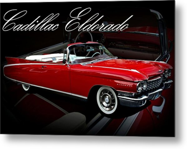 Metal Print featuring the photograph 1960 Cadillac Convertible El Dorado  by Tim McCullough