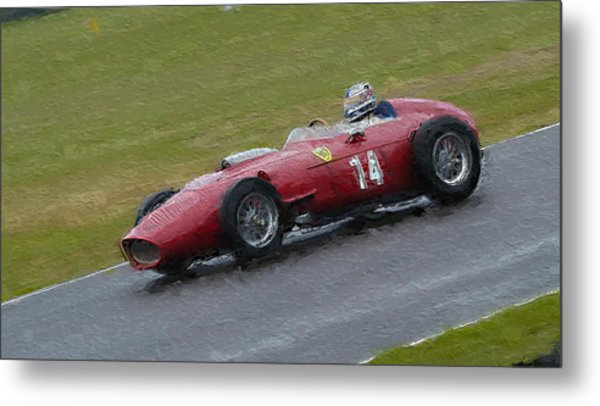 1960 Ferrari Dino Racing Car Metal Print